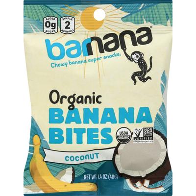 barnana Banana Bites, Organic, Coconut, Chewy
