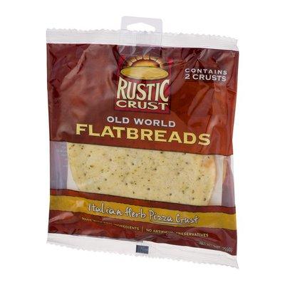 Rustic Crust Flatbreads, Old World, Italian Herb Pizza Crust