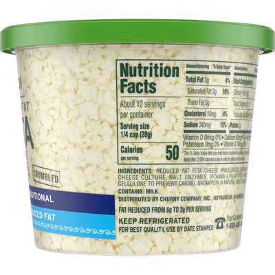 Athenos Traditional Crumbled Feta Cheese with Reduced Fat