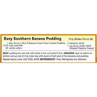Jell-O Banana Cream Instant Pudding & Pie Filling Mix