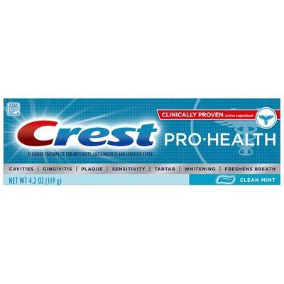 Crest Toothpaste, Fluoride, Clean Mint