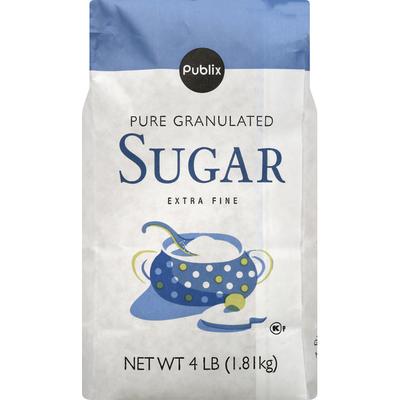 Publix Sugar, Pure Granulated, Extra Fine