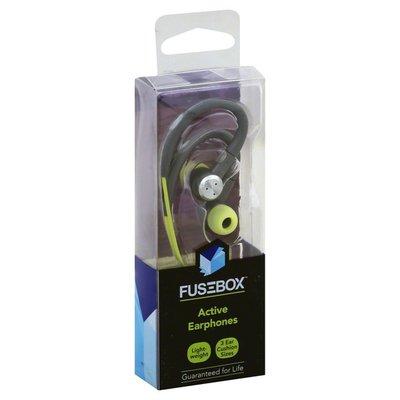 Fusebox Earphones, Active, Gray/Green