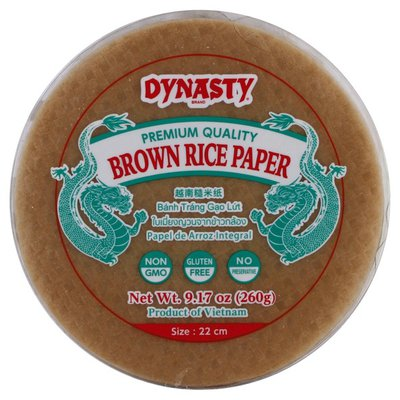 Dynasty Brown Rice Paper, 22 cm