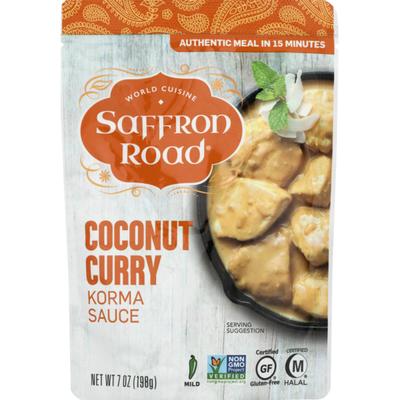 Saffron Road Korma Sauce, Coconut Curry, Mild