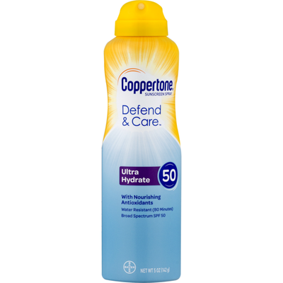 Coppertone Sunscreen Spray Ultra Hydrate SPF 50
