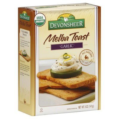 Devonsheer Melba Toast, Garlic