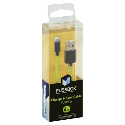 Fusebox Charge & Sync Cable, Lightning, 4 Foot