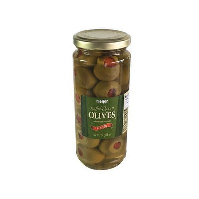 Meijer Queen Olives Stuffed With Minced Pimiento Placed
