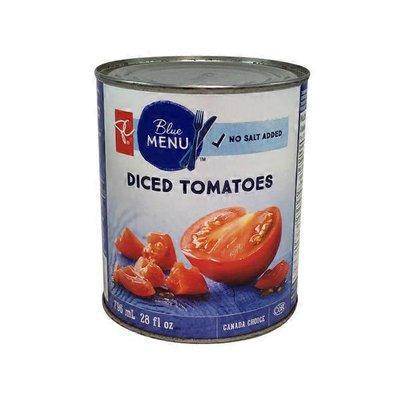 President Choice Blue Menu No Salt Diced Tomatoes