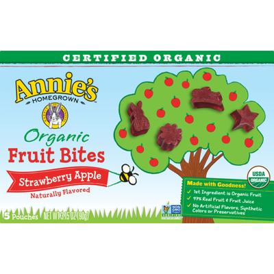 Annie's Organic, Gluten Free Fruit Bites, Strawberry Apple