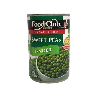 Food Club No Salt Added Tender Sweet Peas