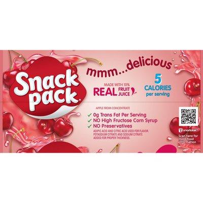 Snack Pack Gel Sugar Free Cherry