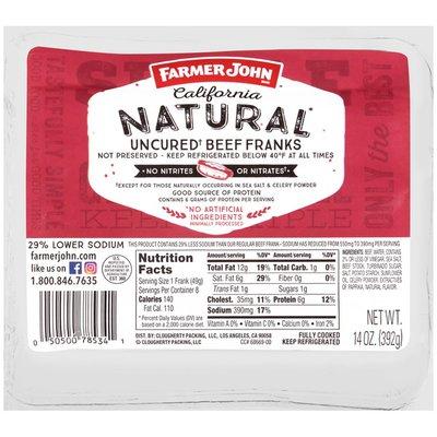 Farmer John Uncured Beef Franks