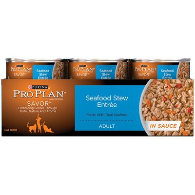 Pro Plan Cat Wet Savor Adult Seafood Stew Entree in Sauce Cat Food