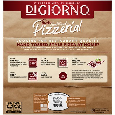 DiGiorno Pizzeria! Margherita Frozen Pizza on a Thin Hand-Tossed Style Crust