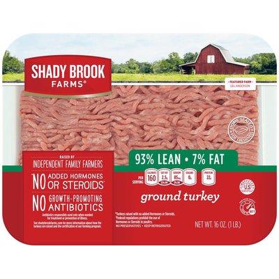 Shady Brook Farms 93% lean / 7% Fat Ground Turkey Tray