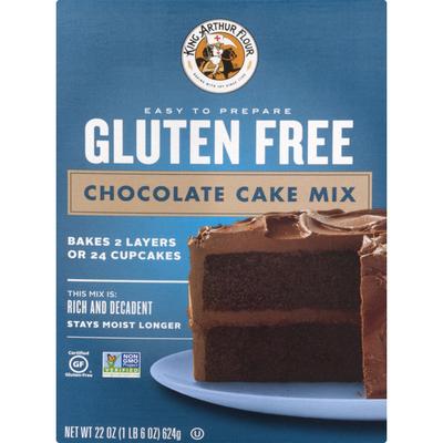 King Arthur Baking Company Cake Mix, Gluten Free, Chocolate