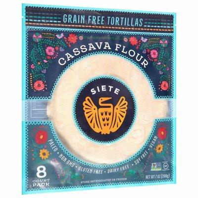 Siete Tortillas, Grain Free, Cassava Flour, 8 Pack