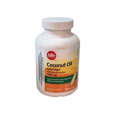 Life Brand 1000mg Organic Coconut Oil Capsules
