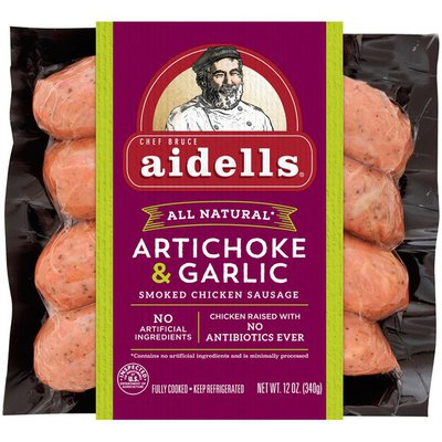 Aidells Sausage, Smoked Chicken, Artichoke & Garlic