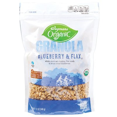 Wegmans Organic Food You Feel Good About Granola, Blueberry & Flax