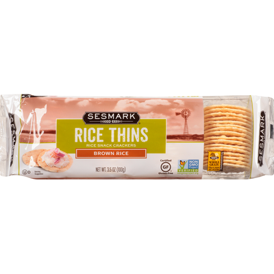 Sesmark Rice Thins Brown Rice Snack Crackers