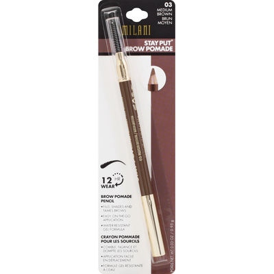 Milani Brow Pomade Pencil, Medium Brown 03