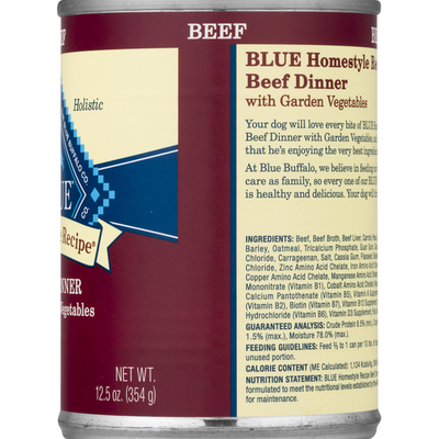 Blue Buffalo Homestyle Recipe Natural Adult Wet Dog Food, Beef