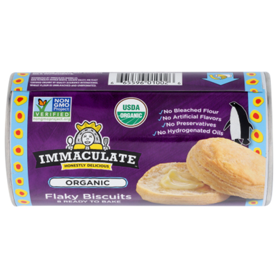 Immaculate Baking Organic Biscuits, Ready to Bake Flaky Biscuits