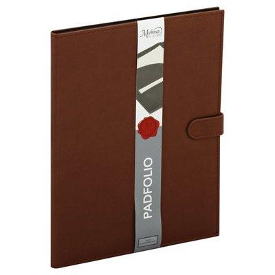 Markings Padfolio, Black/Brown, Soft Leatherette