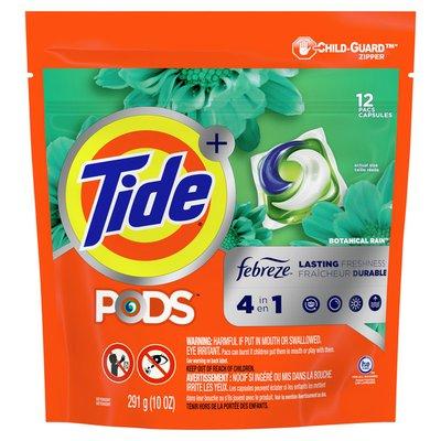 Tide PODS with Febreze, Liquid Laundry Detergent Pacs, Botanical Rain