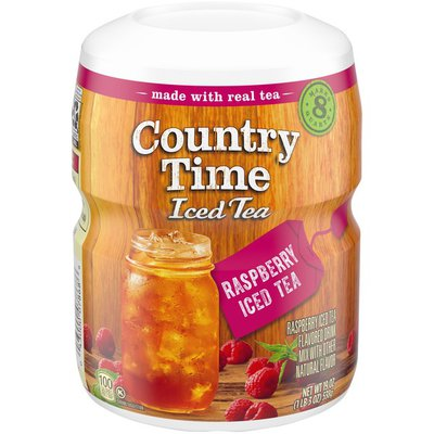 Country Time Raspberry Iced Tea Naturally Flavored Powdered Drink Mix