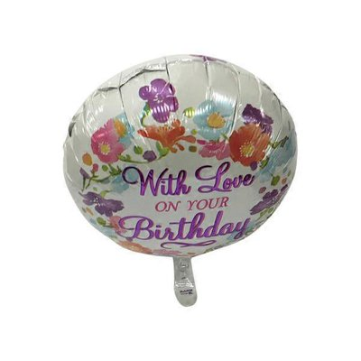 With Love Birthday Balloon