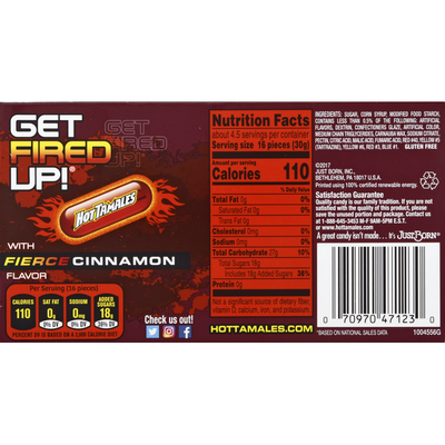 Hot Tamales Candy, Fierce Cinnamon