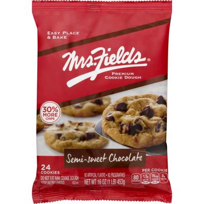 Mrs. Field's Premium Cookie Dough Semi-Sweet Chocolate - 24 CT