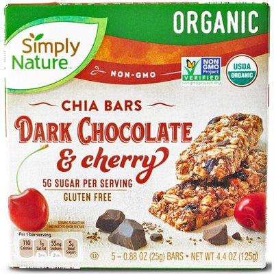 Simply Nature Organic Dark Chocolate & Cherry Chia Bar