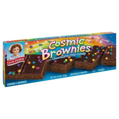 Little Debbie Brownies, Cosmic, with Chocolate Chip Candy