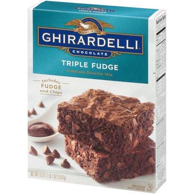 Ghirardelli Chocolate Chocolate Triple Fudge Premium Brownie Mix