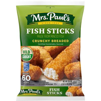 Mrs. Paul's Fish Sticks, Crunchy Breaded