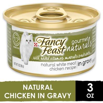 Fancy Feast Natural Wet Cat Food, Gourmet Naturals White Meat Chicken Recipe in Gravy