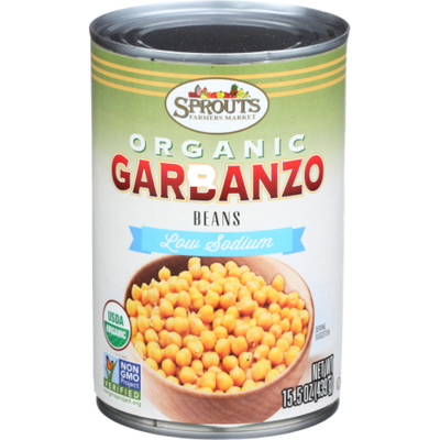 Sprouts Low Sodium Organic Garbanzo Beans
