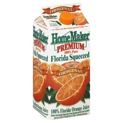 HomeMaker Orange Juice, 100% Florida, Original