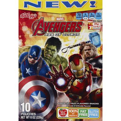 Kellogg's Fruit Flavored Snacks, Marvel Avengers Assemble, Assorted