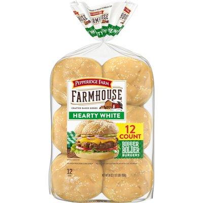Pepperidge Farm®  Farmhouse Hearty White Hamburger Buns
