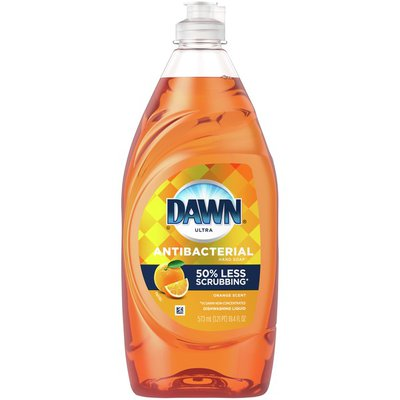 Dawn Antibacterial Dishwashing Liquid Dish Soap, Orange Scent