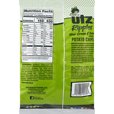 Utz Sour Cream & Onion Potato Chips