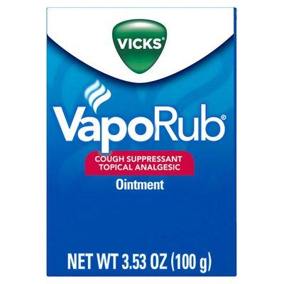 Vicks Vaporub Original Cough Suppressant Topical Analgesic