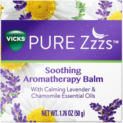 Vicks PURE Zzzs Soothing Aromatherapy Balm with Lavender & Chamomile