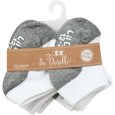 So Dorable Socks with Gripper, 12-24 Months